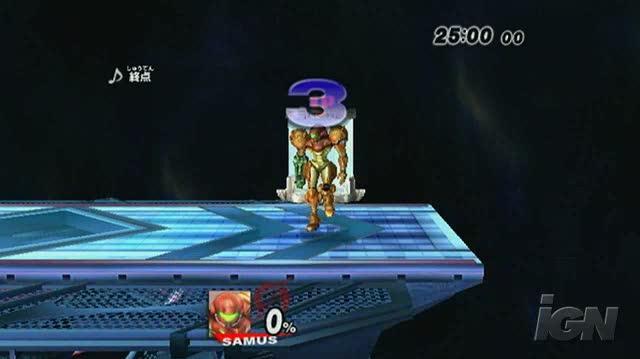 Super Smash Bros. Brawl Nintendo Wii Gameplay - Player Profile Samus (480p)