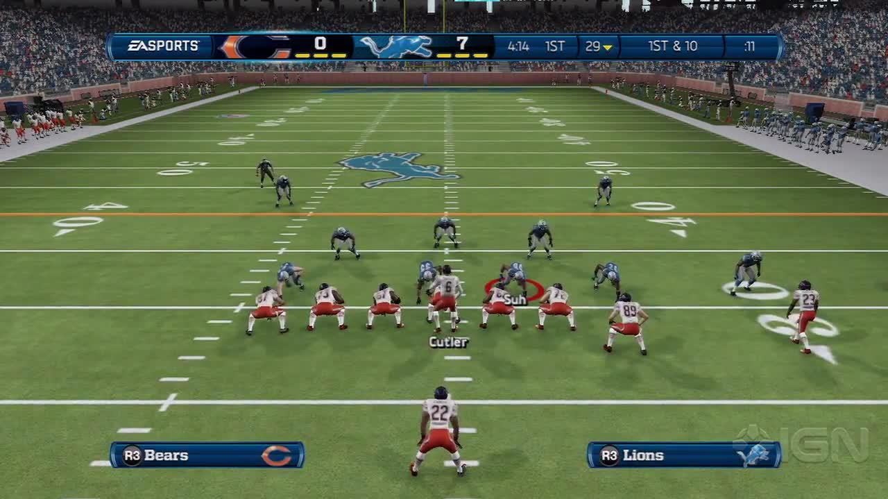 Madden NFL 13 Bears vs. Lions Let's Play