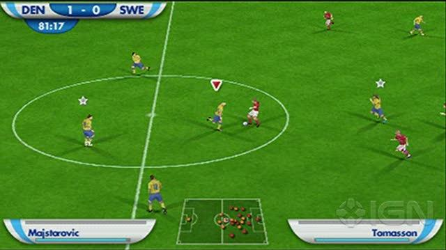 2010 FIFA World Cup South Africa Sony PSP Gameplay - Sweden vs. Denmark