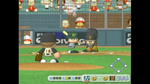 MLB Power Pros 2008 PlayStation 2 Gameplay - Oakland vs. San Francisco