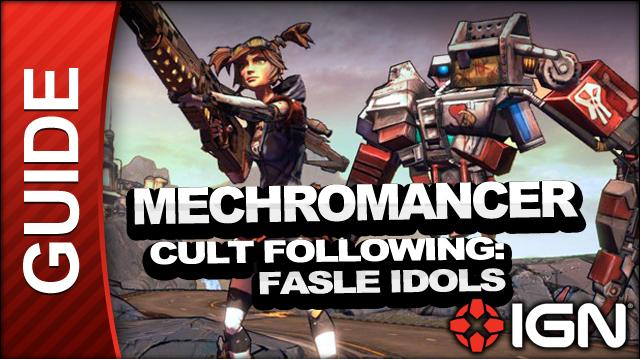 Borderlands 2 Mechromancer Walkthrough - Cult Following False Idols - Side Mission