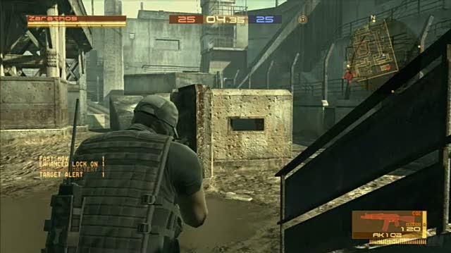 Metal Gear Online PlayStation 3 Gameplay - Mowing 'Em Down