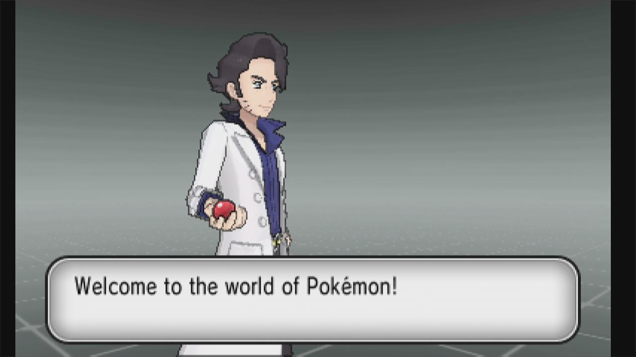 Pokemon X and Y Walkthrough Creating a Character and Choosing a Pokemon