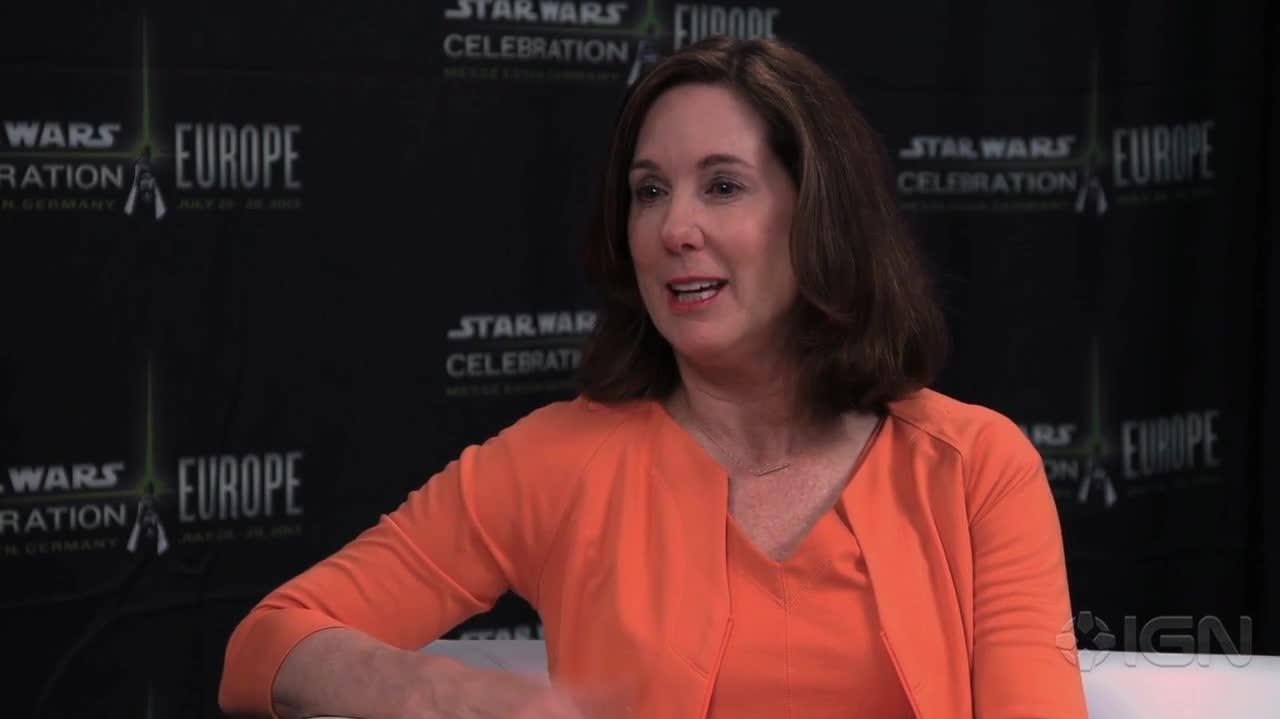 Star Wars Episode VII - Warwick Davis Interviews Kathleen Kennedy