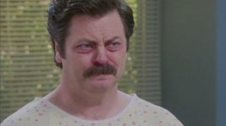 Parks And Recreation Ron Is Sick