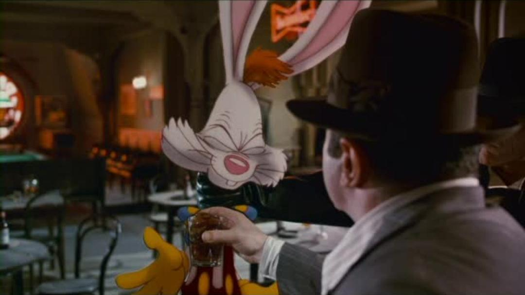 Who Framed Roger Rabbit - Roger Has a Drink Clip