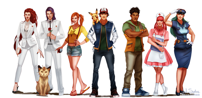 All grown up pokemon by isaiahstephens-d7ghdjt