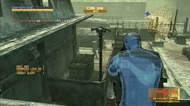 Metal Gear Online PlayStation 3 Gameplay - Going Airborne