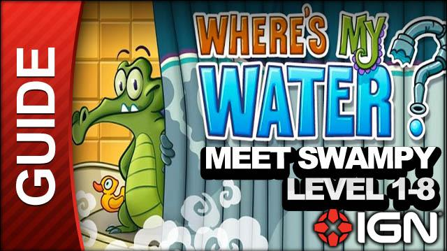 Where's My Water (iPad) - Meet Swampy - Level 1-8 Clear the Way