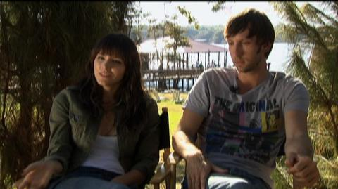 "Shark Night 3D (2011) - Interview ""Katharine McPhee & Joel Moore on the challenges"""