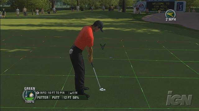 Tiger Woods PGA Tour 08 Xbox 360 Gameplay - Perfect Putt (HD)