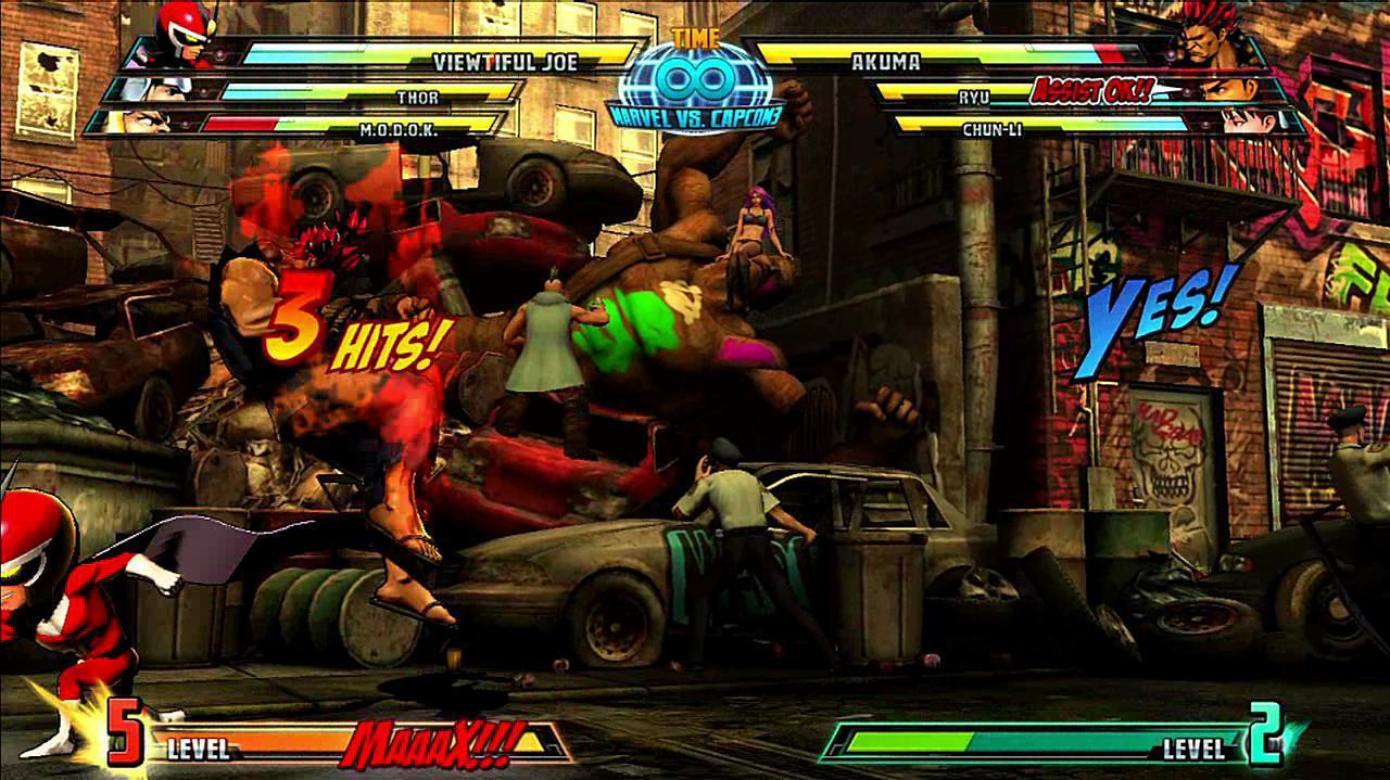Marvel vs. Capcom 3 Viewtiful Joe Gameplay