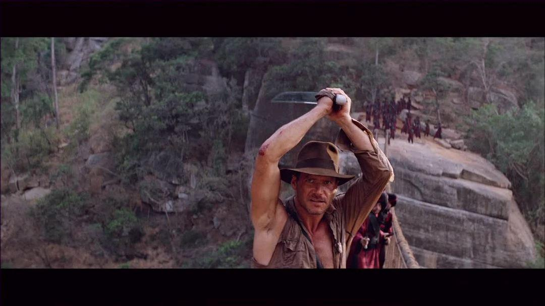 "Indiana Jones And The Temple Of Doom - Clip ""The Bridge"""