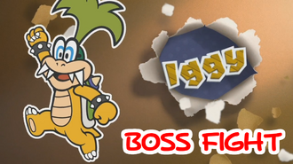 Paper Mario Color Splash - Iggy Boss Fight