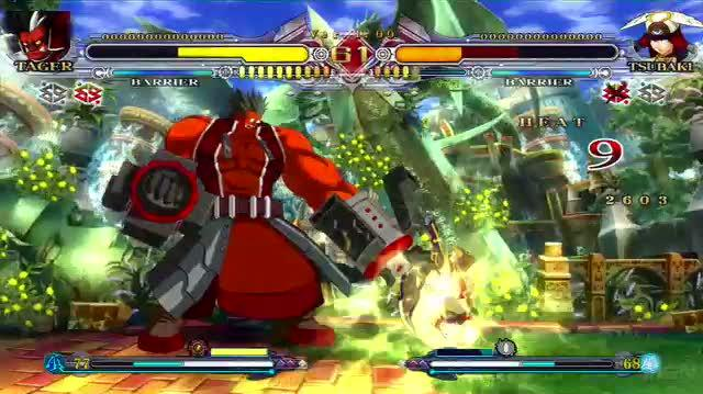 BlazBlue Continuum Shift PS3 - Tager Action