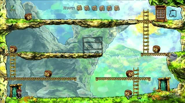 Braid PlayStation 3 Gameplay - The Cloud Bridge
