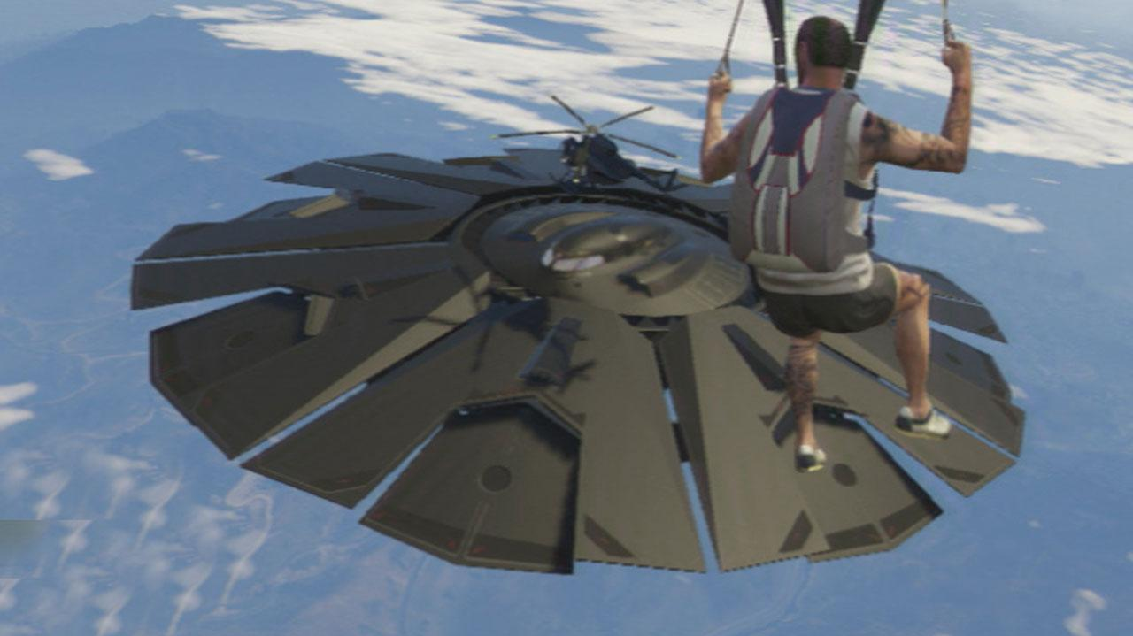 GTA 5 Fort Zancudo UFO Gameplay Clip