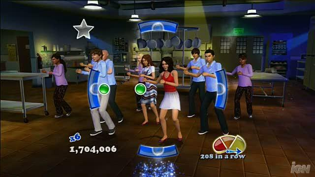High School Musical 3 Senior Year Dance (Dance Pad Bundle) Xbox 360 Gameplay - Work This Out