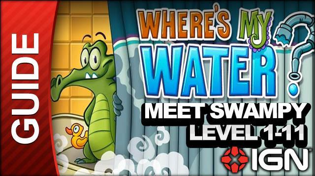 Where's My Water (iPad) - Meet Swampy - Level 1-11 Divert