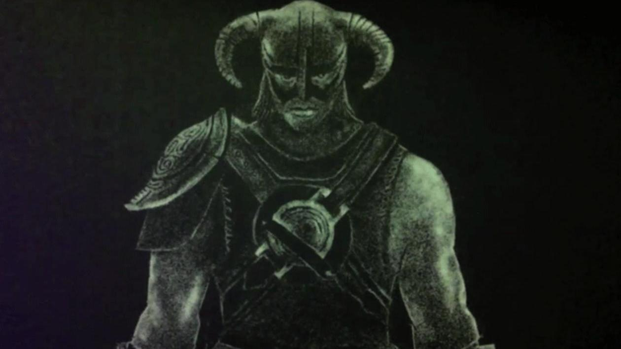 "Salt Art Skyrim - ""Dragonborn"""