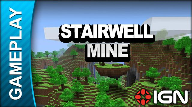 Minecraft - Stairwell Mine - Gameplay