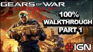 Gears of War Judgment Walkthrough - Old Town - Declassified Mission and Cog Tag (Part 1)
