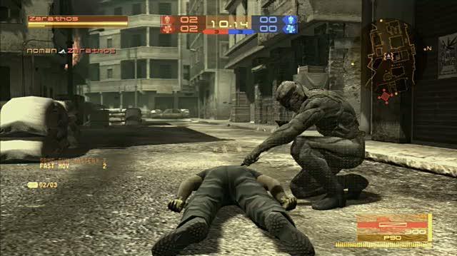 Metal Gear Online PlayStation 3 Gameplay - Down Goes Snake!