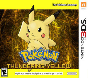 Pokémon Thundering Yellow Box Art
