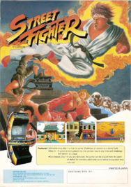 Street Fighter game flyer