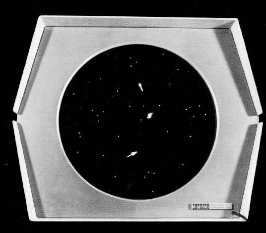 نمایی از بازی Space war، اولین بازی ویدئویی