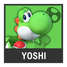 Super Smash Bros. Strife character box - Yoshi