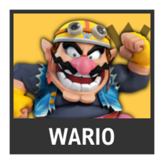 Super Smash Bros. Strife character box - Wario