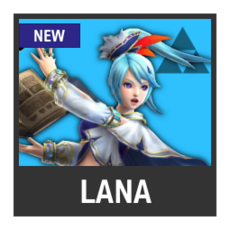 Super Smash Bros. Strife character box - Lana