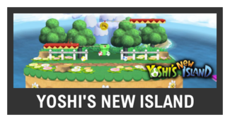 Super Smash Bros. Strife stage box - Yoshi's New Island