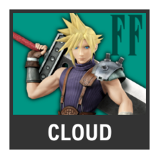 Super Smash Bros. Strife character box - Cloud