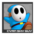 ACL Mario Kart 9 character box - Cyan Shy Guy
