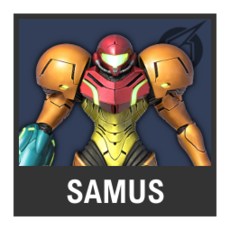 Super Smash Bros. Strife character box - Samus