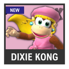 Super Smash Bros. Strife character box - Dixie Kong