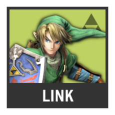 Super Smash Bros. Strife character box - Link