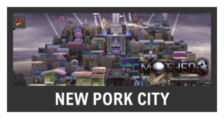 Super Smash Bros. Strife stage box - New Pork City
