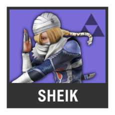 Super Smash Bros. Strife character box - Sheik