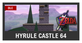 Super Smash Bros. Strife stage box - Hyrule Castle 64