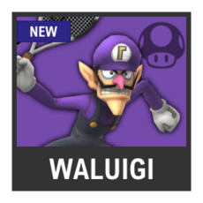 Super Smash Bros. Strife character box - Waluigi