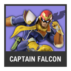 Super Smash Bros. Strife character box - Captain Falcon