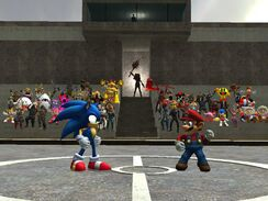 Mario vs sonic the showdown by supersmashbrosgmod-d3g5cte