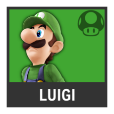 Super Smash Bros. Strife character box - Luigi