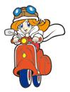 Brawl Sticker Mona & Moped (WarioWare MMG)