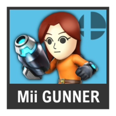 Super Smash Bros. Strife character box - Mii Gunner