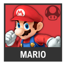 Super Smash Bros. Strife character box - Mario