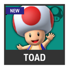 Super Smash Bros. Strife character box - Toad